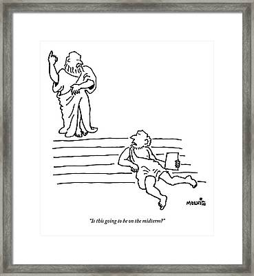A Young Pupil Interrupts An Ancient Greek Framed Print