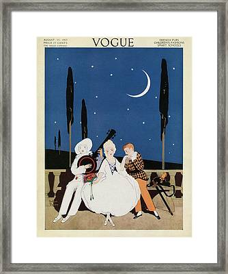 A Young Woman Being Serenaded Framed Print