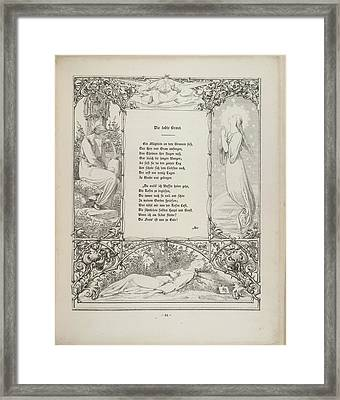 A Young Woman Framed Print