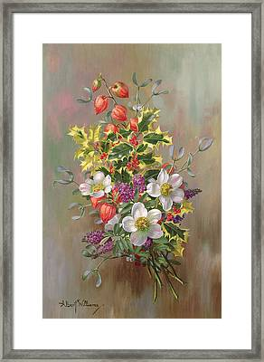 A Yuletide Posy Framed Print by Albert Williams