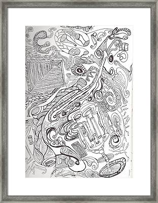 A Zentangling  Framed Print by Diana Hoesly