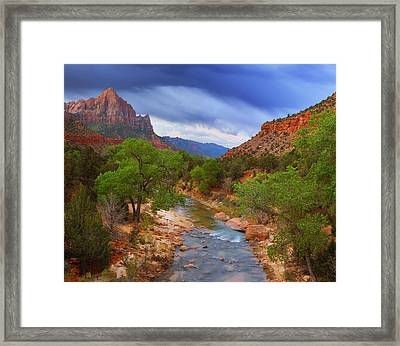A Zion Morning Framed Print by Darren  White