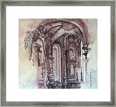 A02. The Completed Painting Framed Print