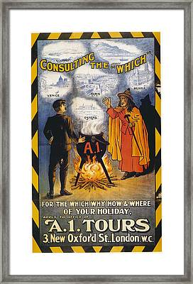 A1 Tours Vintage Travel Poster Framed Print by Gianfranco Weiss