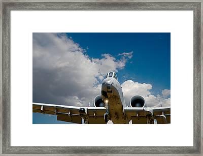 A10 Warthog Approach Landing Framed Print