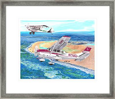 Cessna 206 And A1a Husky Framed Print