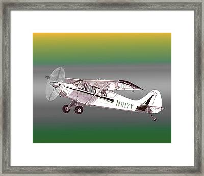 A1a Husky Aviat Airplane Framed Print by Jack Pumphrey