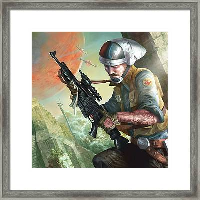 A280 Blaster Rifle  Framed Print by Ryan Barger