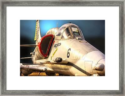 A4 Skyhawk Attack Jet Framed Print
