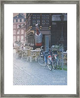 Aachen Square Aachen Germany Framed Print
