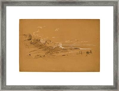 Aaron Draper Shattuck, Maine Coast, American Framed Print