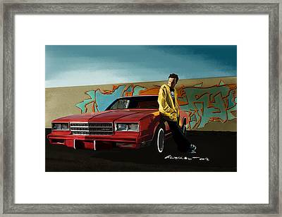 Aaron Paul As Jesse Pinkman @ Tv Serie Breaking Bad Framed Print