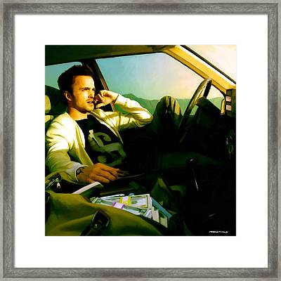 Aaron Paul Framed Print