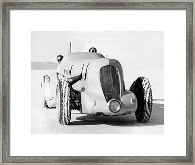 Ab Jenkins Speed Record Run Framed Print by Underwood Archives