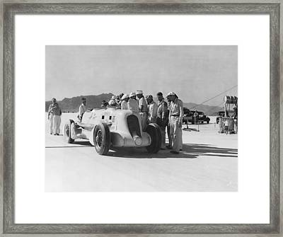 Ab Jenkins Speed Record Framed Print