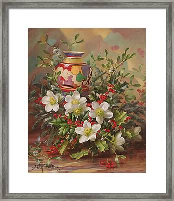 Winter Flowers Framed Print by Albert Williams