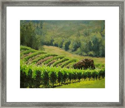 Abacela Vineyard Framed Print by Karen Ilari