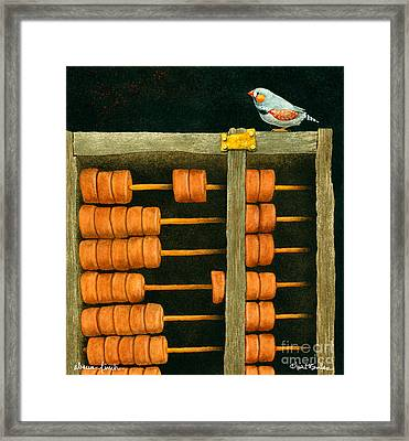 Abacus Finch... Framed Print by Will Bullas
