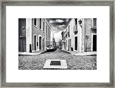 Abajo De La Calle Framed Print by John Rizzuto