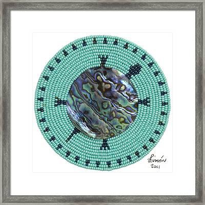 Abalone Shell Framed Print