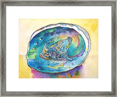 Abalone Shell Tropical Color Framed Print