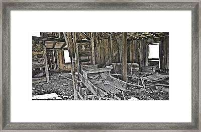 Abandon Barn Framed Print by Richard Balison