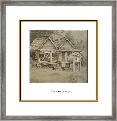 Abandon Cottage Framed Print