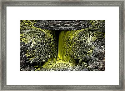 Framed Print featuring the digital art Abandon Fear All Ye Who Enter Here by Steed Edwards