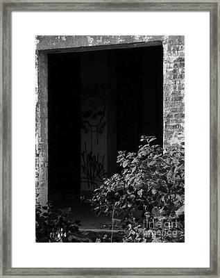 Abandon Hope All Ye Who Enter Here - Bw Framed Print by James Aiken