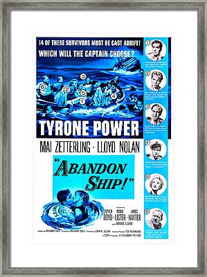 Abandon Ship, Aka Seven Waves Away, Us Framed Print by Everett