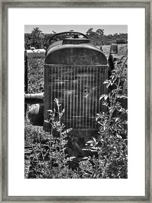Abandon Tractor Framed Print by Diego Re