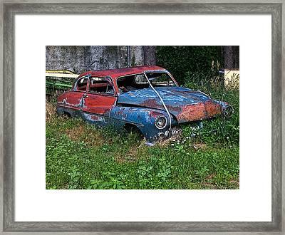 Abandoned 1950 Mercury Monteray Buick Framed Print