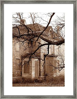 Abandoned 19th Century House Framed Print by Jim Hughes