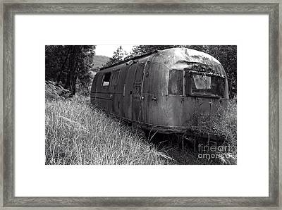 Abandoned Airstream In The Jungle Framed Print by Edward Fielding