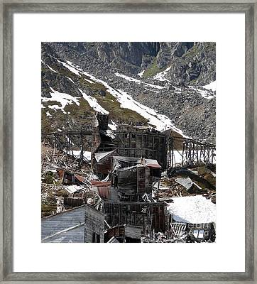 Abandoned Alaskan Gold Mine Framed Print by Dani Abbott