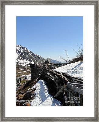 Abandoned Alaskan Gold Mine Track IIi Framed Print