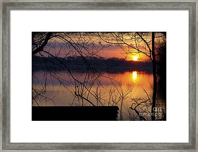 Abandoned At Sunset Framed Print