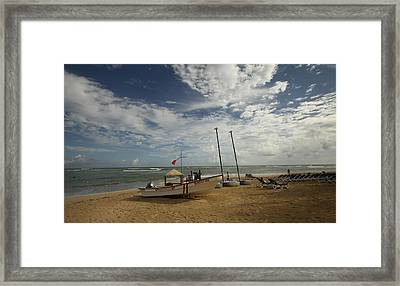 Abandoned Beach Framed Print