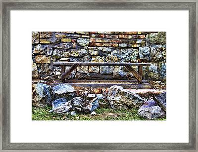 Abandoned Bench Framed Print by Milan Karadzic