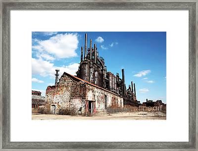 Abandoned Bethlehem Steel Framed Print by John Rizzuto