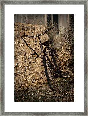 Abandoned Bicycle Framed Print