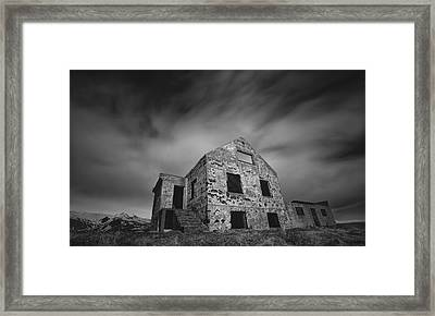 Abandoned Brick House Sitting Framed Print by Robert Postma