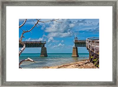 Abandoned Bridge Framed Print