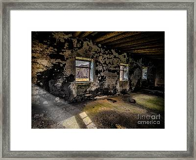 Abandoned Building Framed Print by Adrian Evans