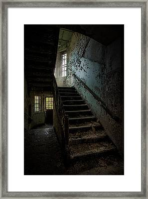 Abandoned Building - Haunting Images - Stairwell In Building 138 Framed Print