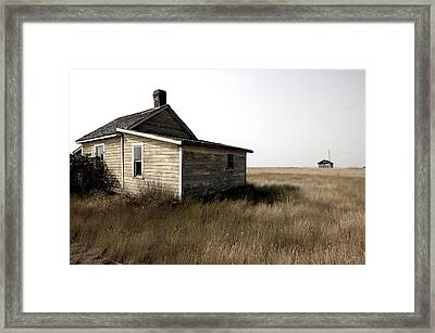 Abandoned Building In Ghost Town Of Framed Print