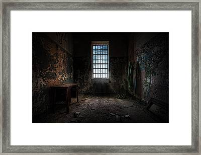 Abandoned Building - Old Room - Room With A Desk Framed Print