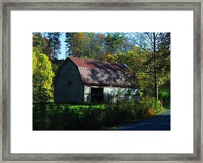 Abandoned By The Roadside Framed Print by Fineartist Ellen