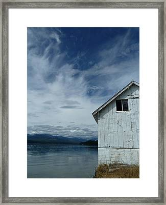Abandoned By The Water Framed Print by Patricia Strand