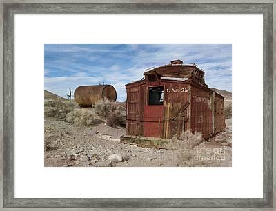 Abandoned Caboose Framed Print
